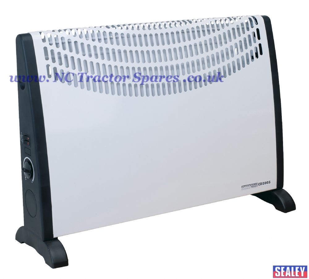 Convector Heater 2000W 3 Heat Settings Thermostat